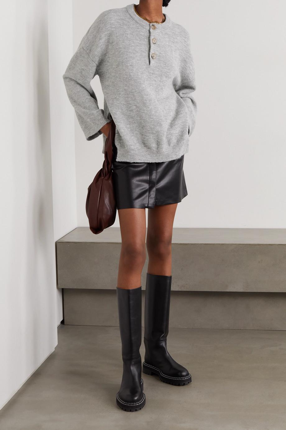 Nanushka Lamee mélange knitted sweater