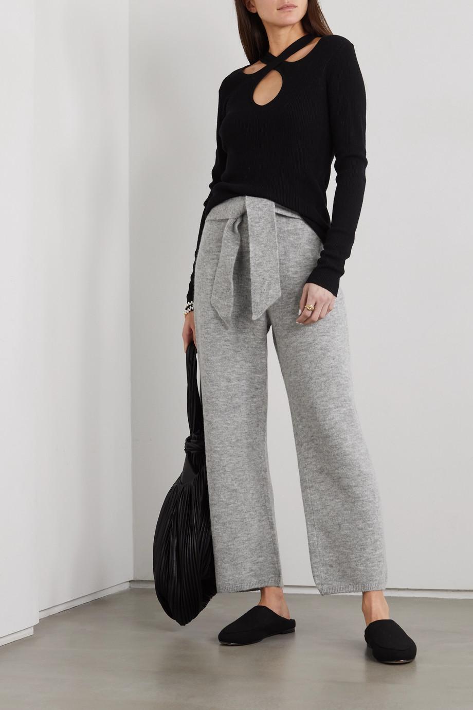 Nanushka Nea belted ribbed mélange knitted pants