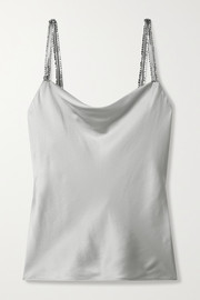 Cami NYC Felicity crystal-embellished silk-blend charmeuse camisole