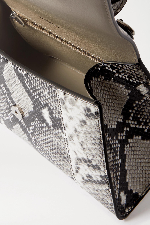 Balenciaga Hourglass python-effect leather tote