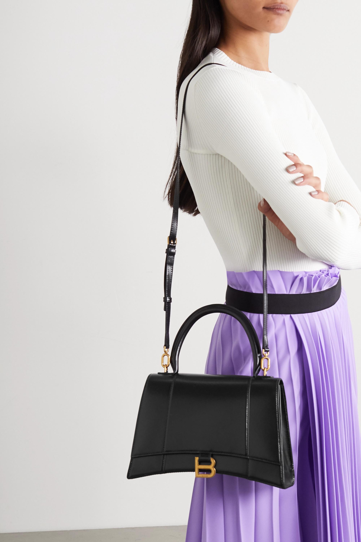 Balenciaga Hourglass medium glossed-leather tote