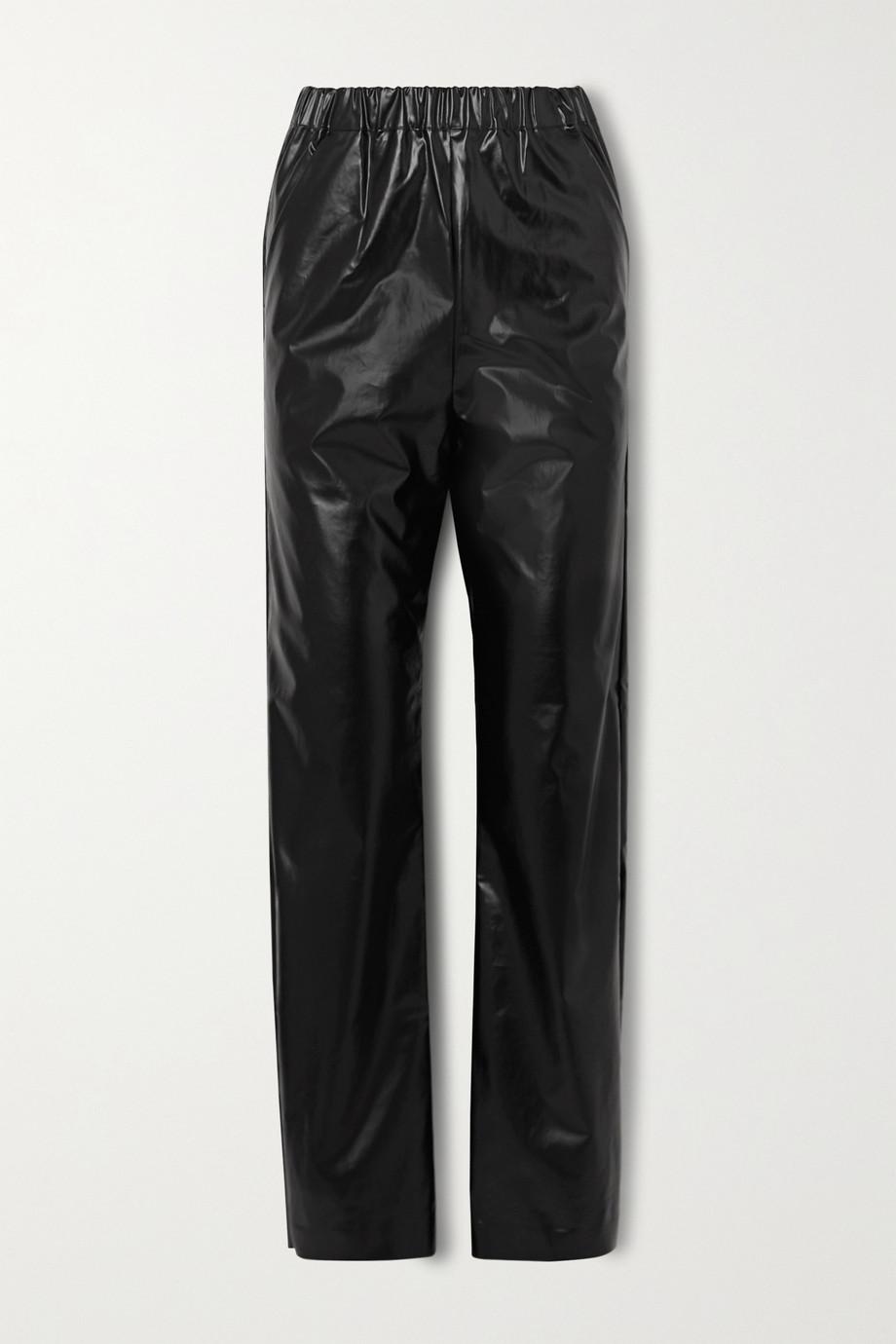 Kassl Editions Hose mit geradem Bein aus Vinyl