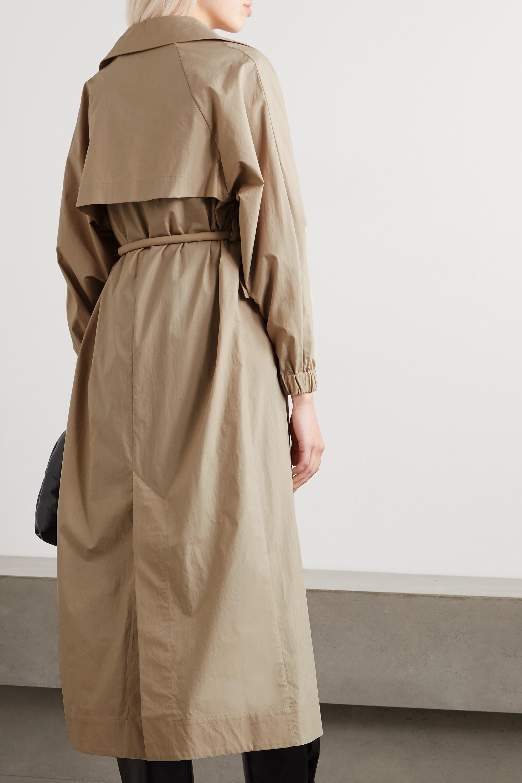 Kassl Editions Trenchcoat aus Baumwolle mit Bindegürtel