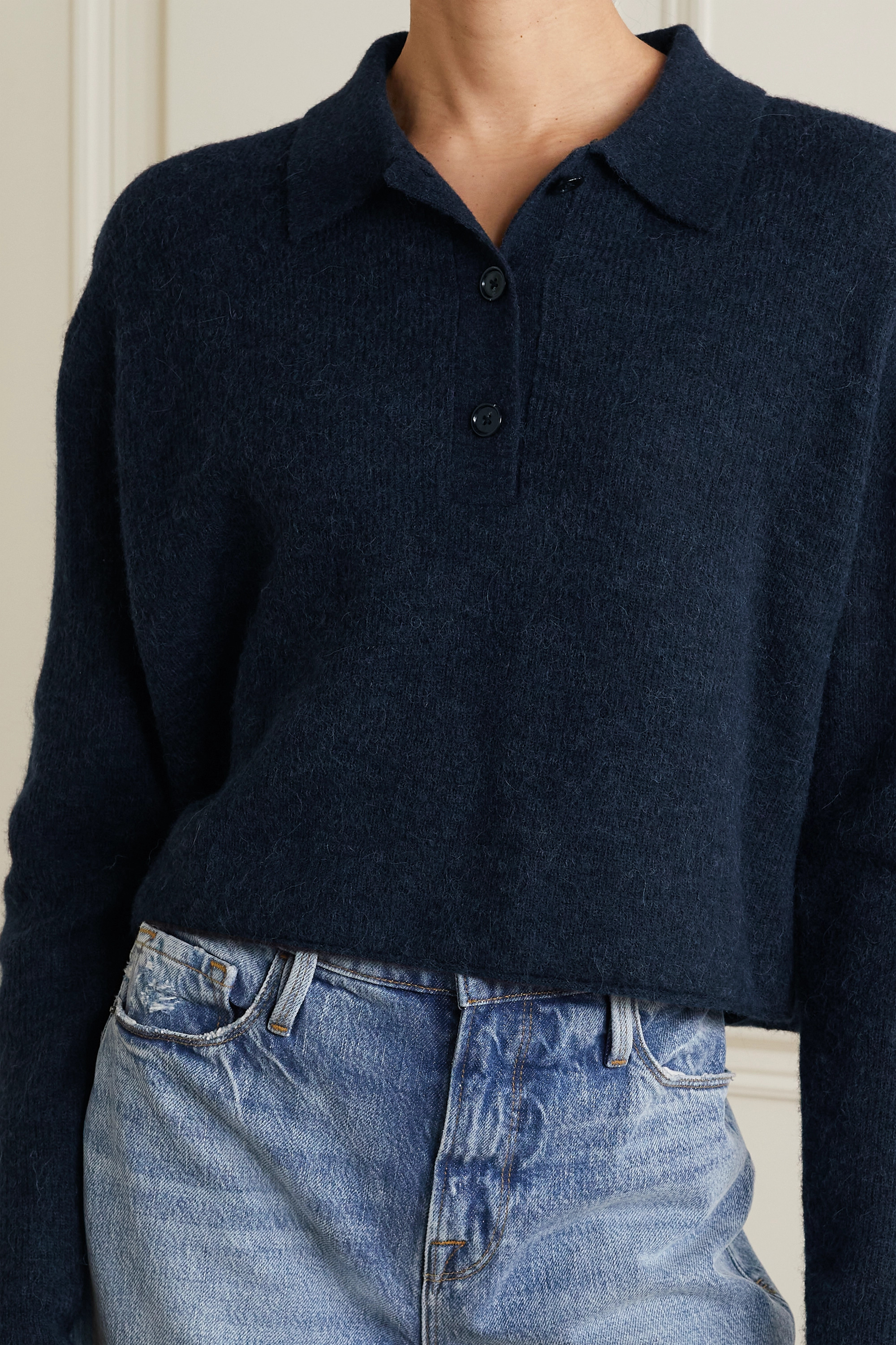 Acne Studios Cropped knitted sweater