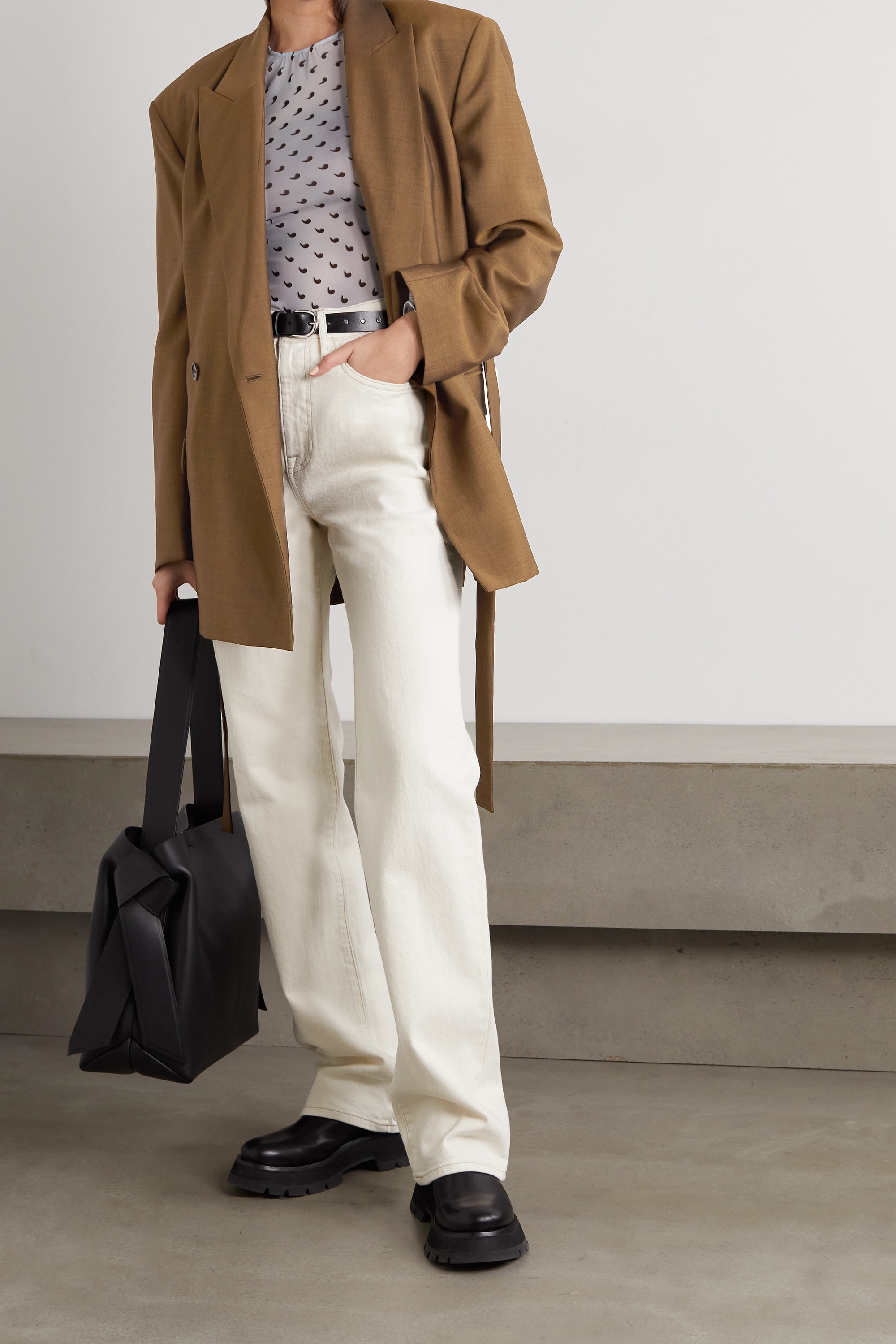 Acne Studios Belted wool and mohair-blend blazer