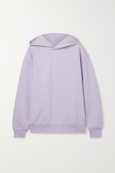 Acne Studios - + Net Sustain Organic Cotton-blend Jersey Hoodie - Lilac