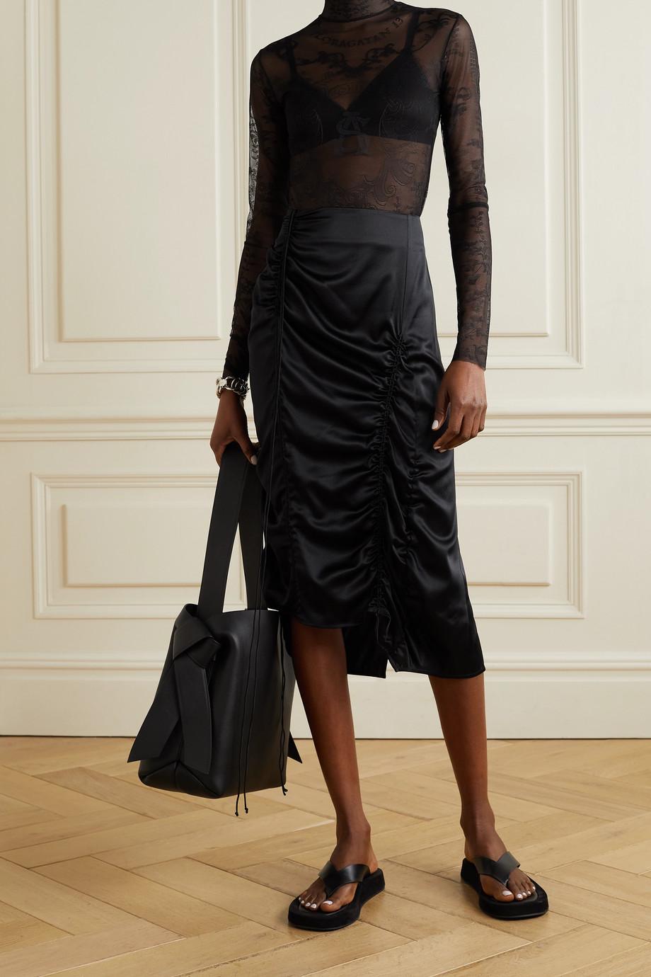 Acne Studios Stretch-lace turtleneck bodysuit