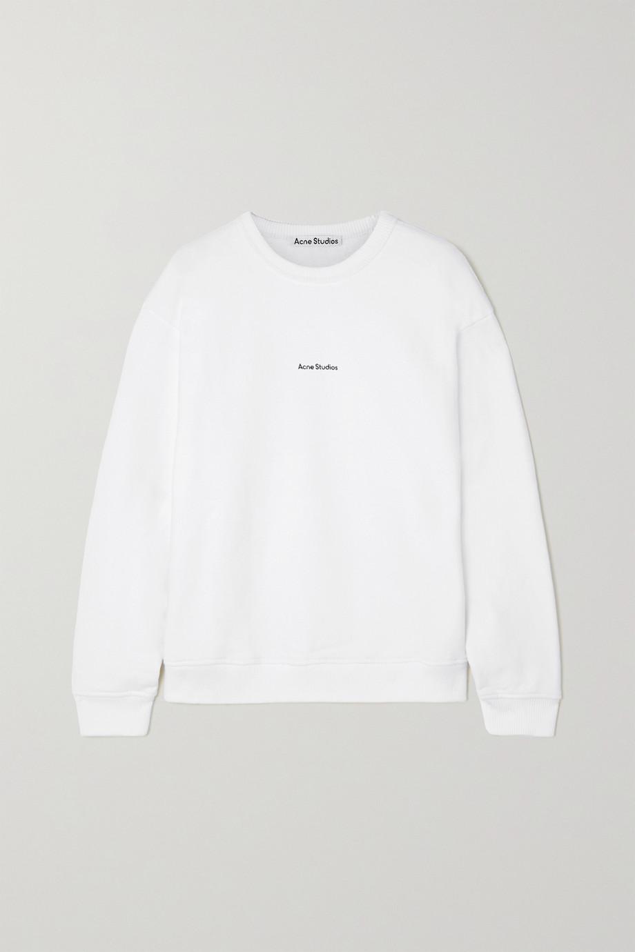 Acne Studios + NET SUSTAIN Sweatshirt aus Biobaumwoll-Jersey mit Print