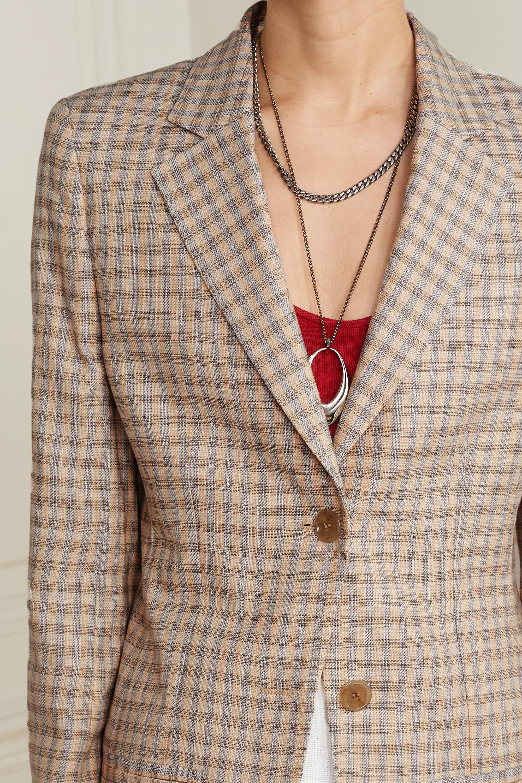Acne Studios Blazer en tweed de coton mélangé à carreaux