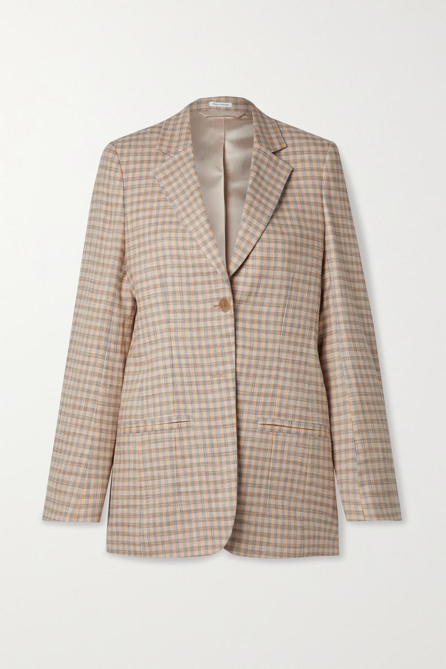 Acne Studios Blazer aus kariertem Tweed aus einer Baumwollmischung