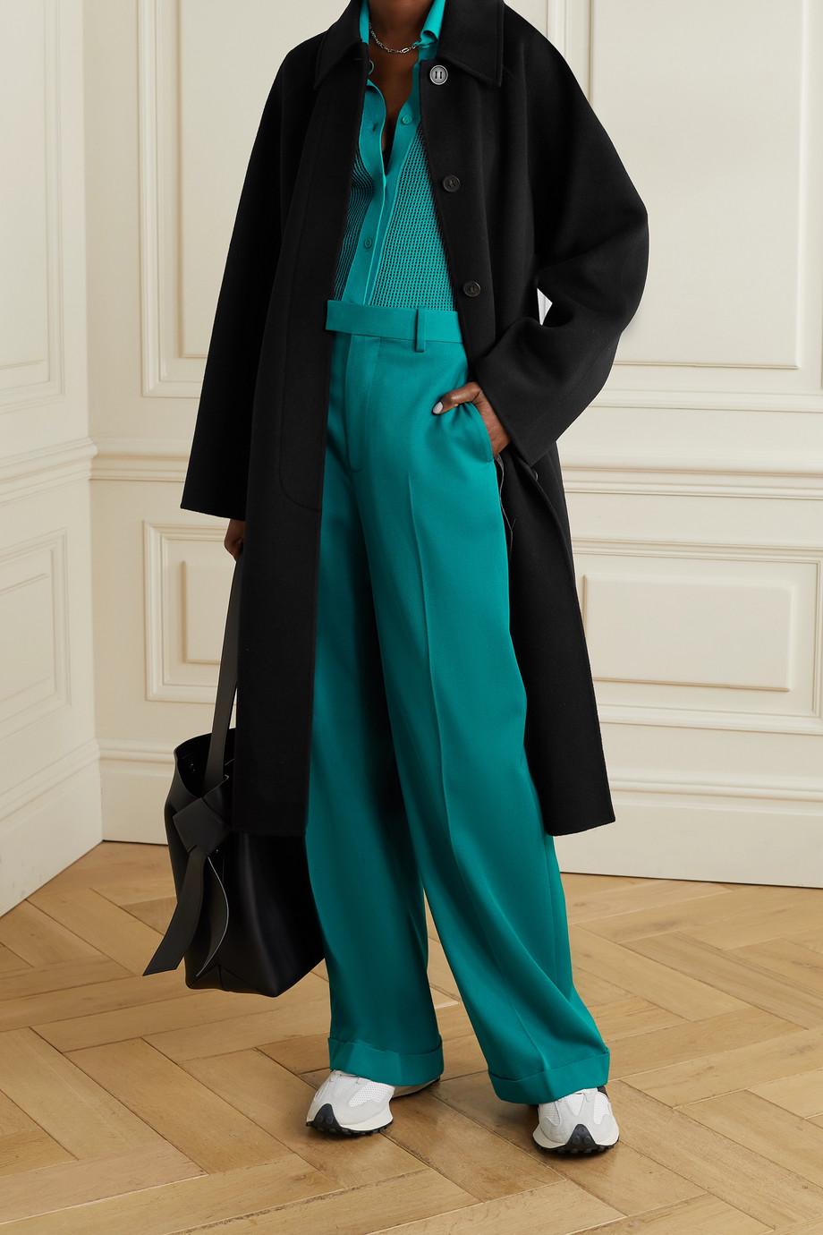 Acne Studios Manteau en feutre de laine à ceinture