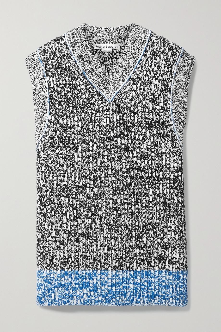 Acne Studios Ärmelloser Oversized-Pullover aus Strick