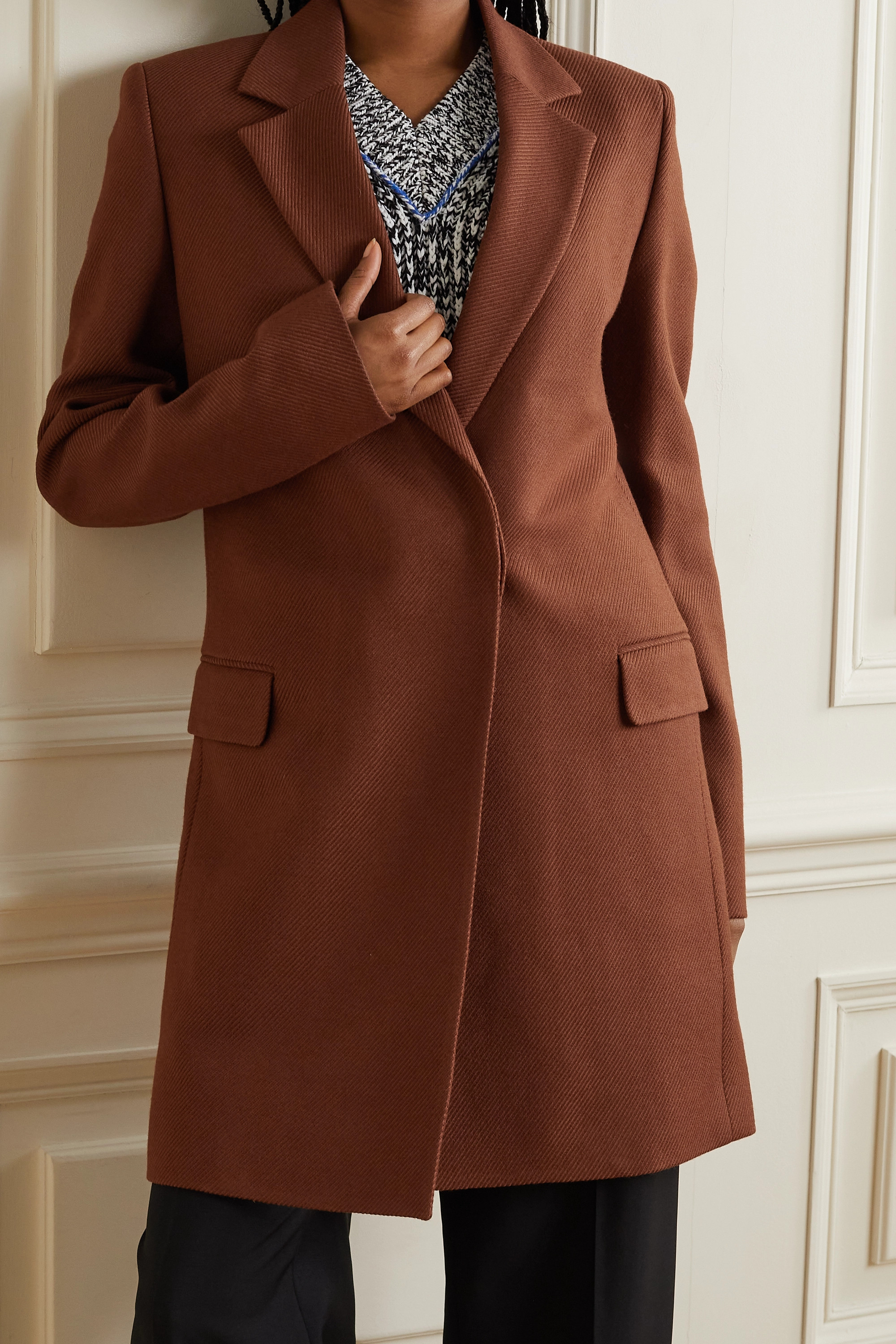 Acne Studios Wool and cotton-blend twill coat