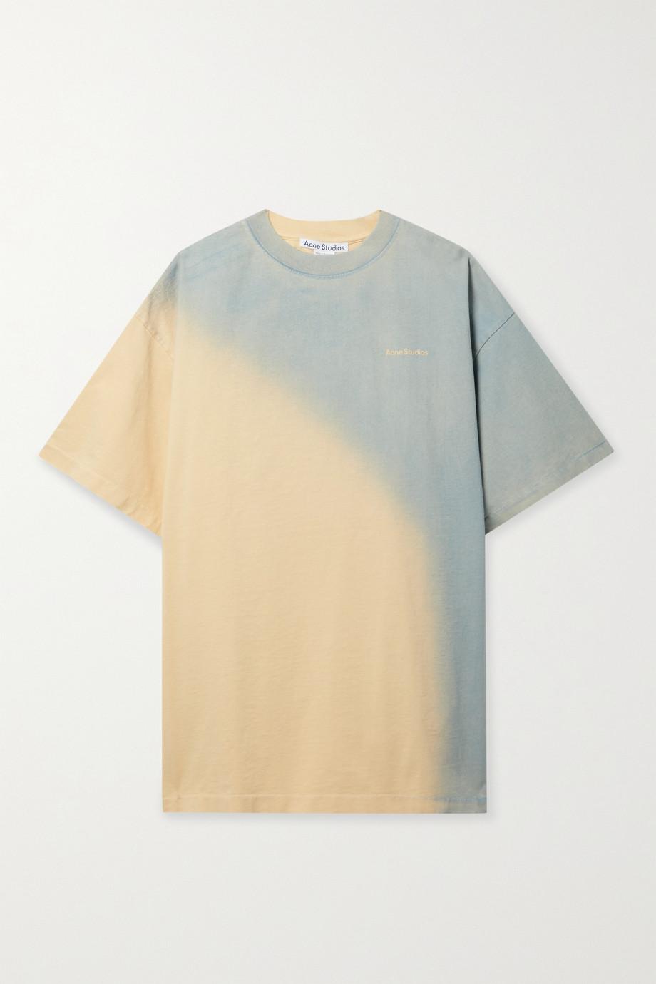 Acne Studios + NET SUSTAIN oversized ombré organic cotton-jersey T-shirt