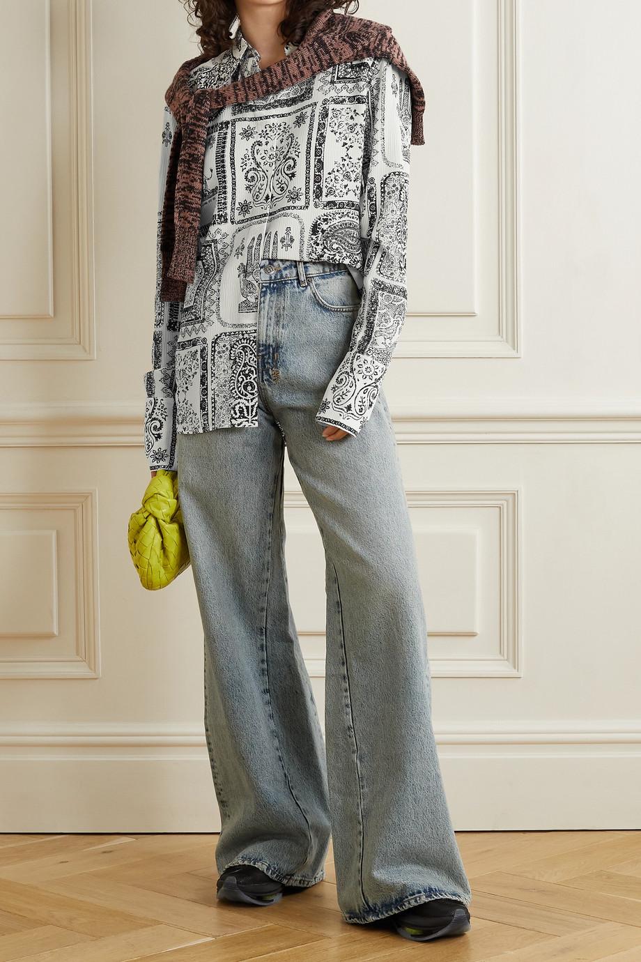 Acne Studios Printed crepon blouse
