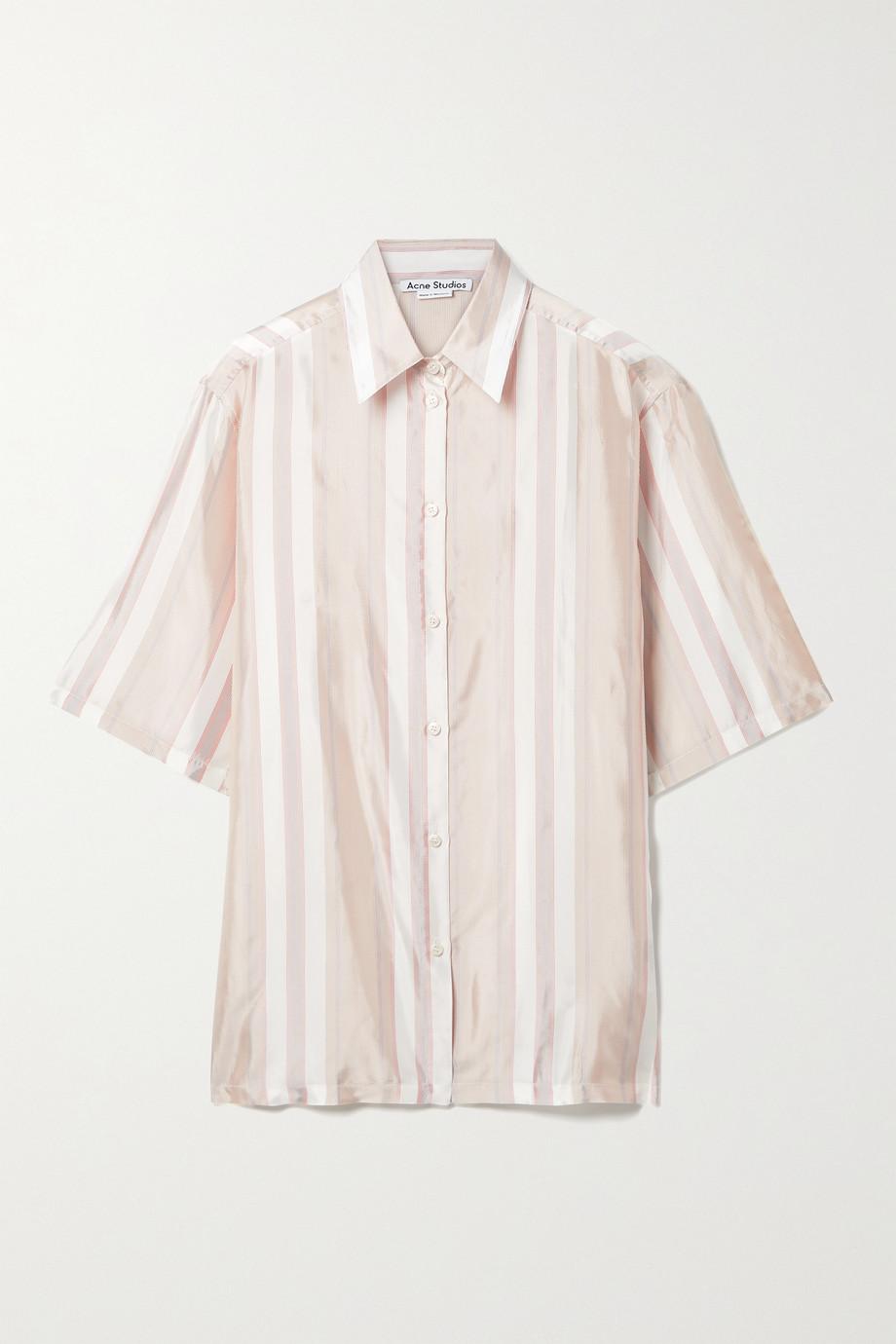 Acne Studios Striped satin shirt