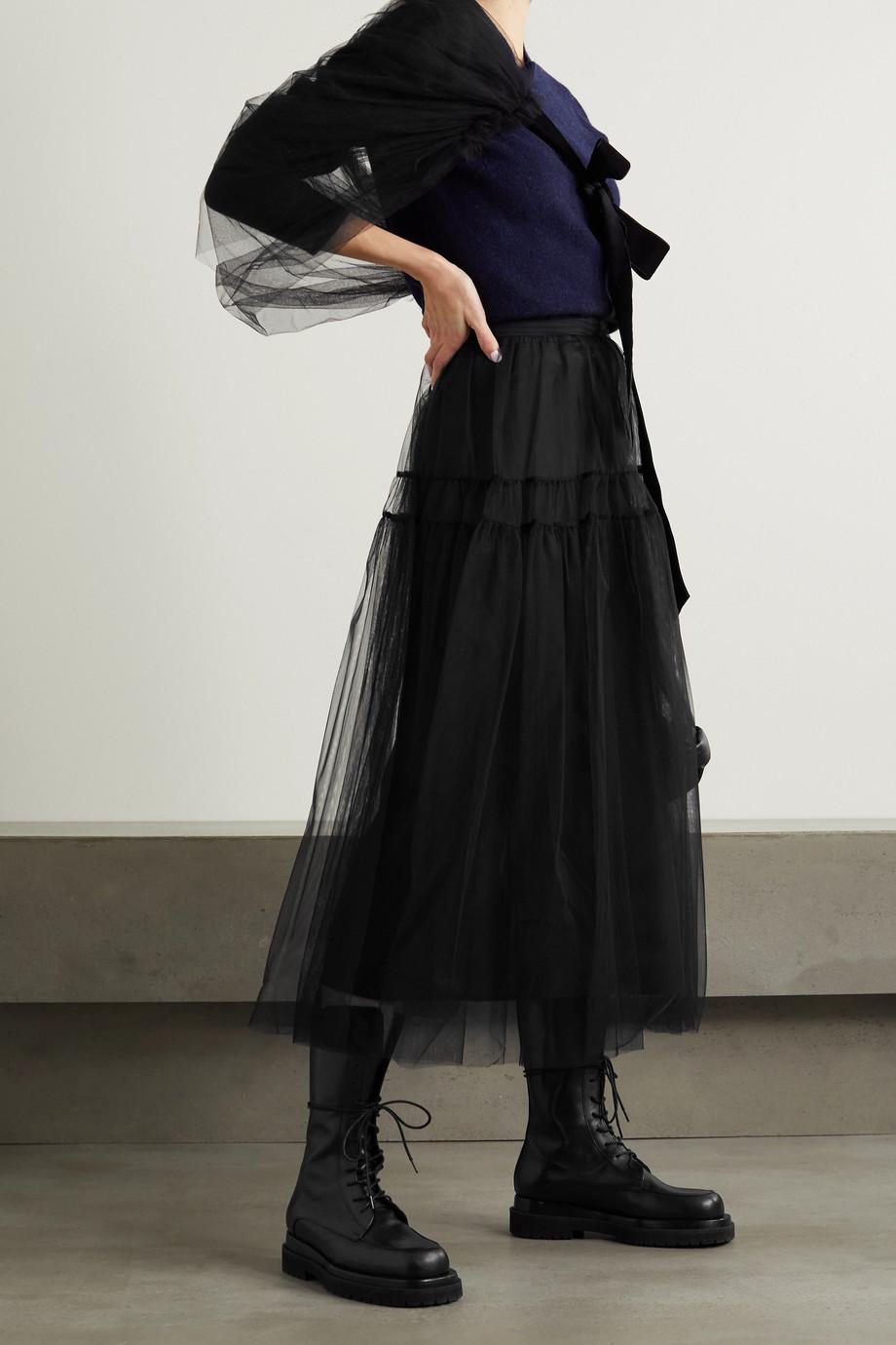 Molly Goddard Lottie 层接式缩褶绢网中长半身裙