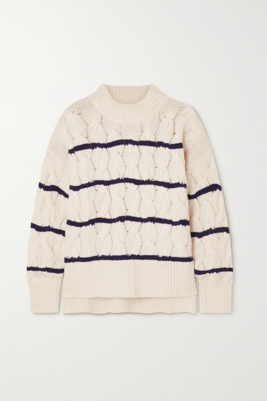 APIECE APART La Vid striped cable-knit cashmere sweater