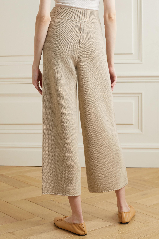 CASASOLA + NET SUSTAIN Alba cropped cashmere wide-leg pants