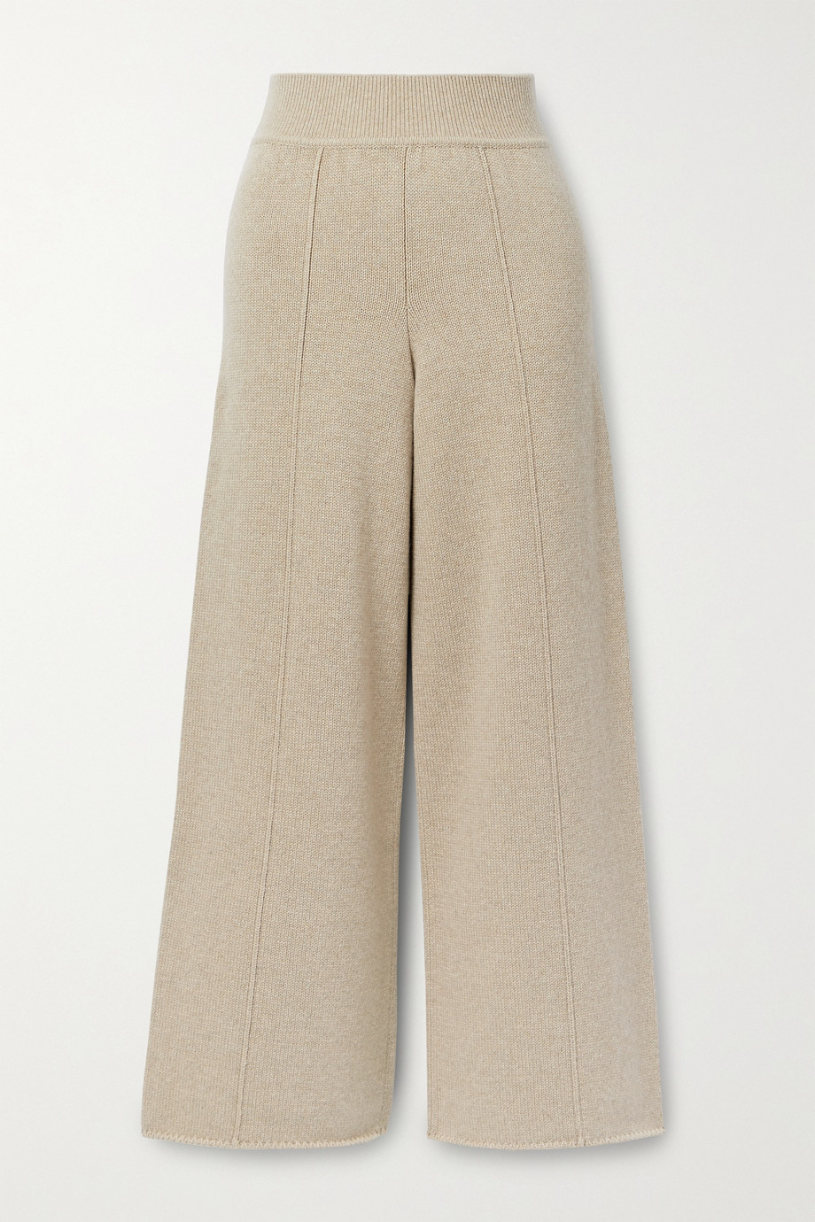 CASASOLA Pantalon large raccourci en cachemire Alba - NET SUSTAIN