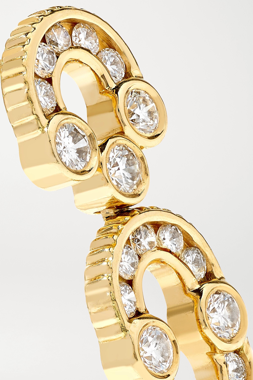 Viltier Boucles d'oreilles en or 18 carats et diamants Magnetic Solo - NET SUSTAIN