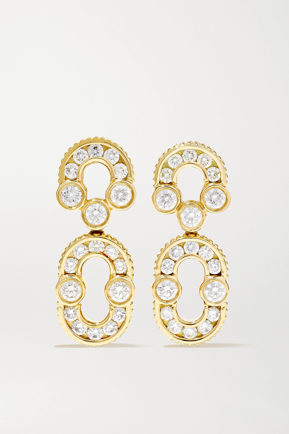 Viltier Boucles d'oreilles en or 18 carats et diamants Magnetic Solo - NET SUSTAIN