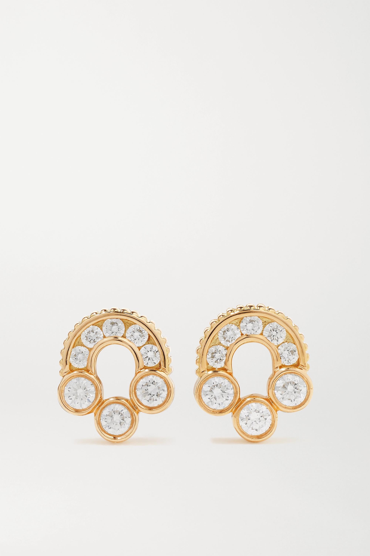 Viltier Boucles d'oreilles en or 18 carats et diamants Magnetic Studs - NET SUSTAIN