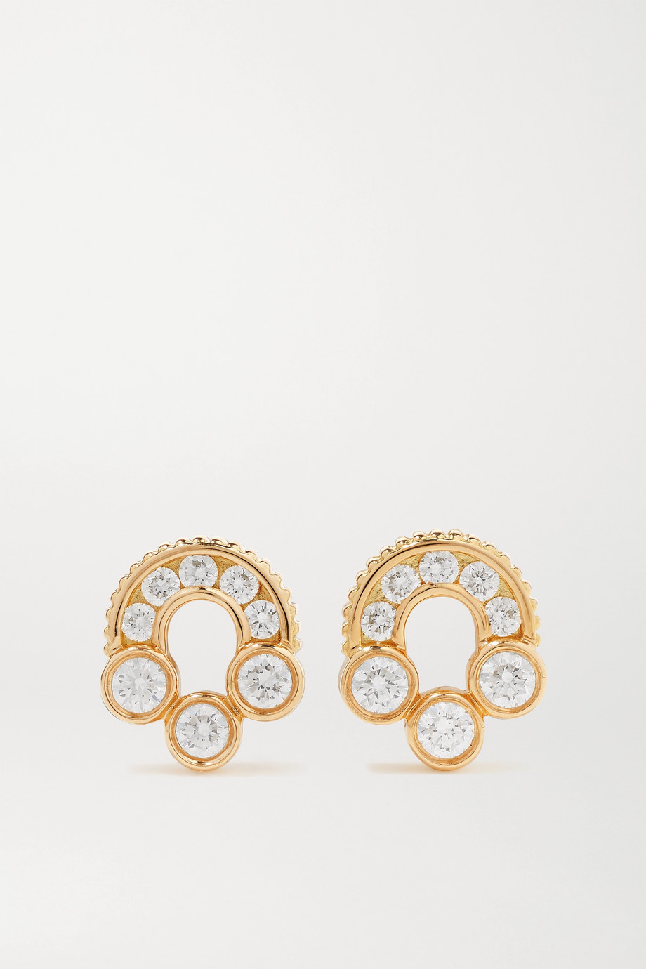 Viltier + NET SUSTAIN Magnetic Studs 18-karat gold diamond earrings