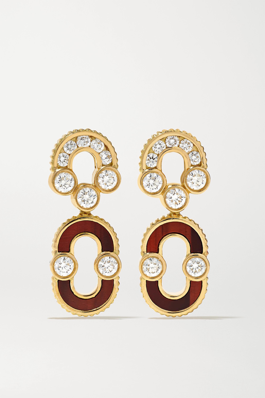 Viltier Boucles d'oreilles en or 18 carats, diamants et œil de taureau Magnetic Solo - NET SUSTAIN