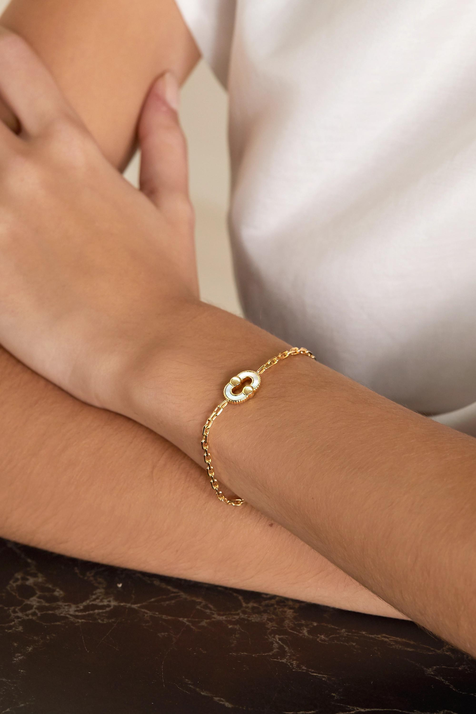 Viltier Bracelet en or 18 carats et pierres multiples Magnetic Recto-Verso - NET SUSTAIN