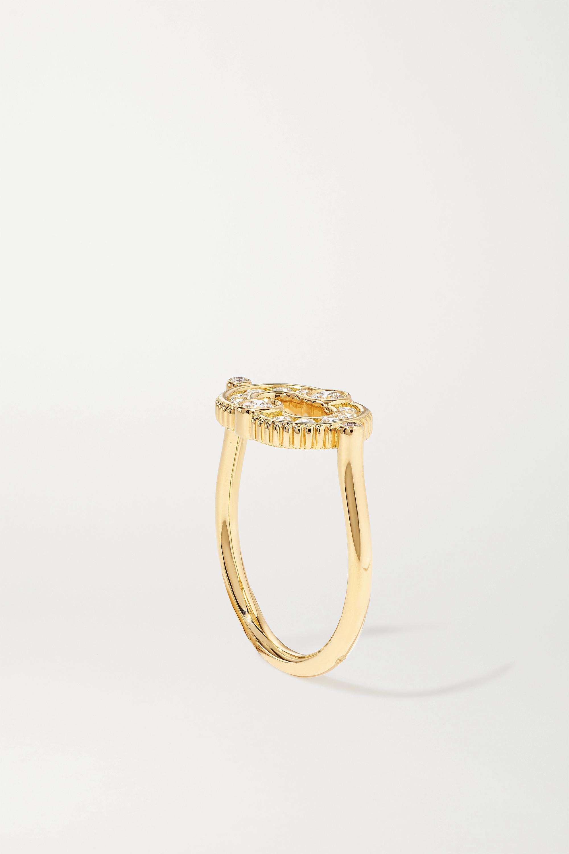 Viltier + NET SUSTAIN Magnetic 18-karat gold diamond ring
