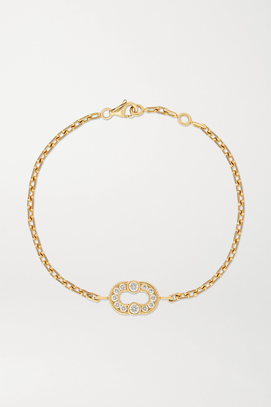 Viltier + NET SUSTAIN Magnetic 18-karat gold diamond bracelet