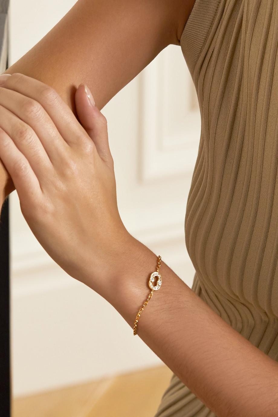Viltier Magnetic 18-karat gold diamond bracelet