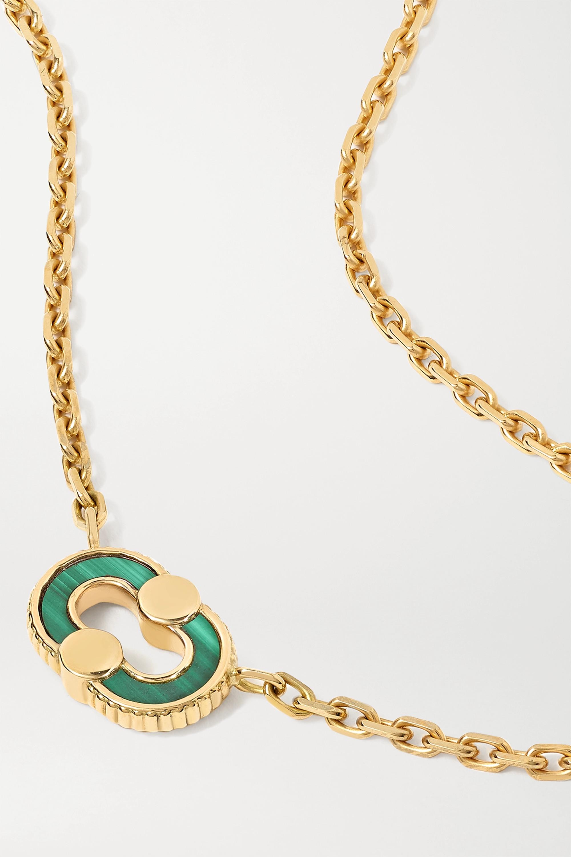 Viltier + NET SUSTAIN Magnetic Recto-Verso 18-karat gold multi-stone necklace