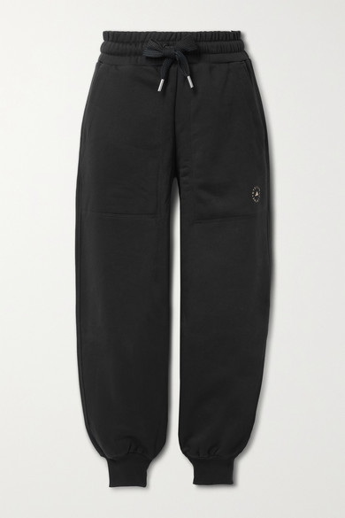 Adidas By Stella Mccartney Cottons COTTON-BLEND JERSEY TRACK PANTS