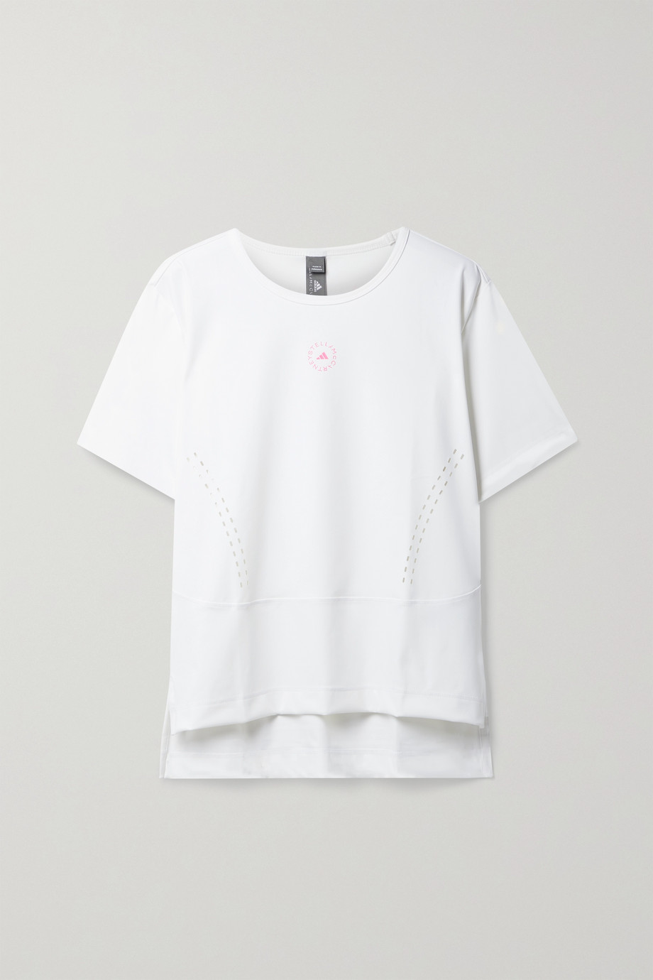 adidas by Stella McCartney TrueStrength perforated stretch recycled T-shirt