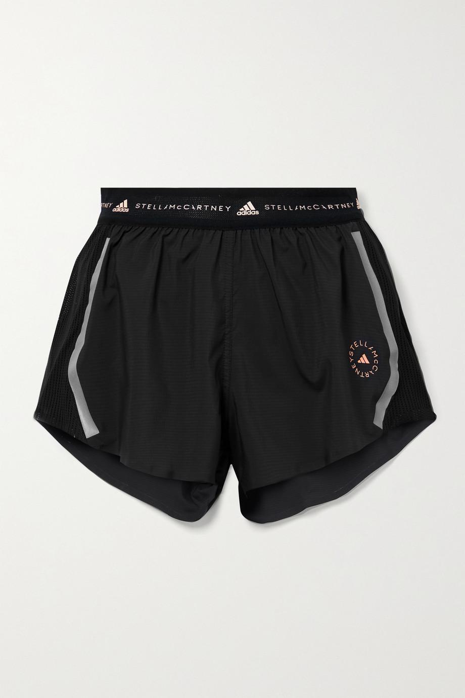 adidas by Stella McCartney TruePace mesh-paneled recycled ripstop shorts