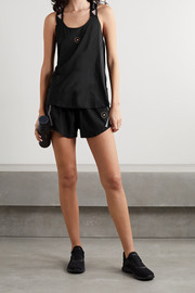 adidas by Stella McCartney TruePace mesh-paneled recycled ripstop shorts