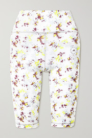 adidas by Stella McCartney TruePerformance floral-print stretch recycled shorts