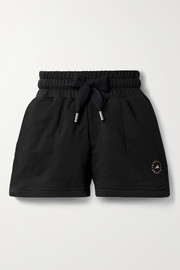 adidas by Stella McCartney Cotton-blend jersey shorts