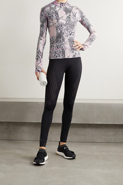 adidas by Stella McCartney TruePurpose perforated floral-print recycled stretch top