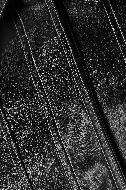 LVIR Topstitched faux leather jacket