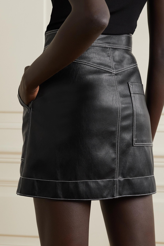 LVIR Topstitched faux leather mini skirt