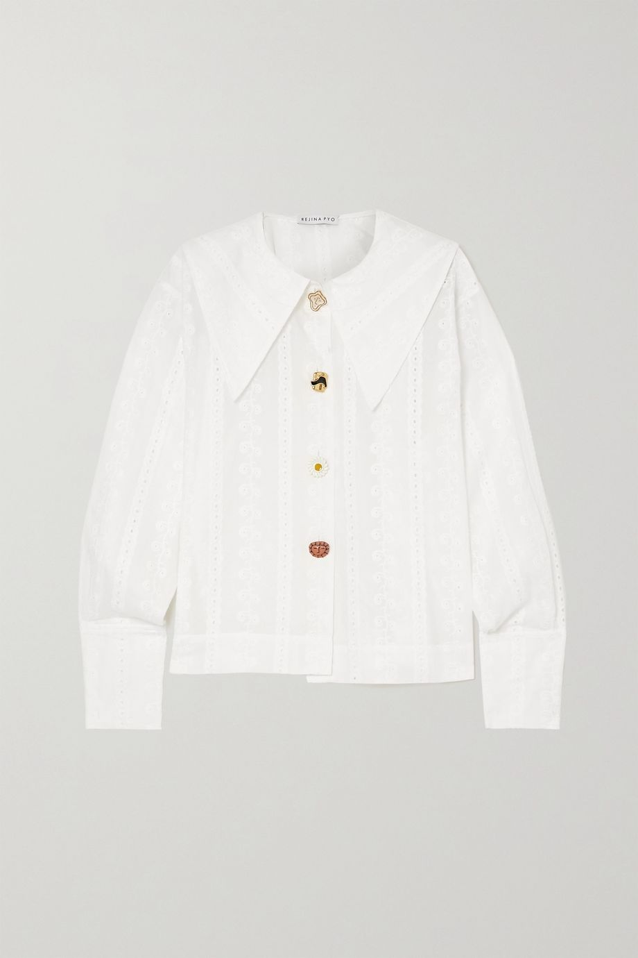 REJINA PYO Elliot broderie anglaise cotton shirt