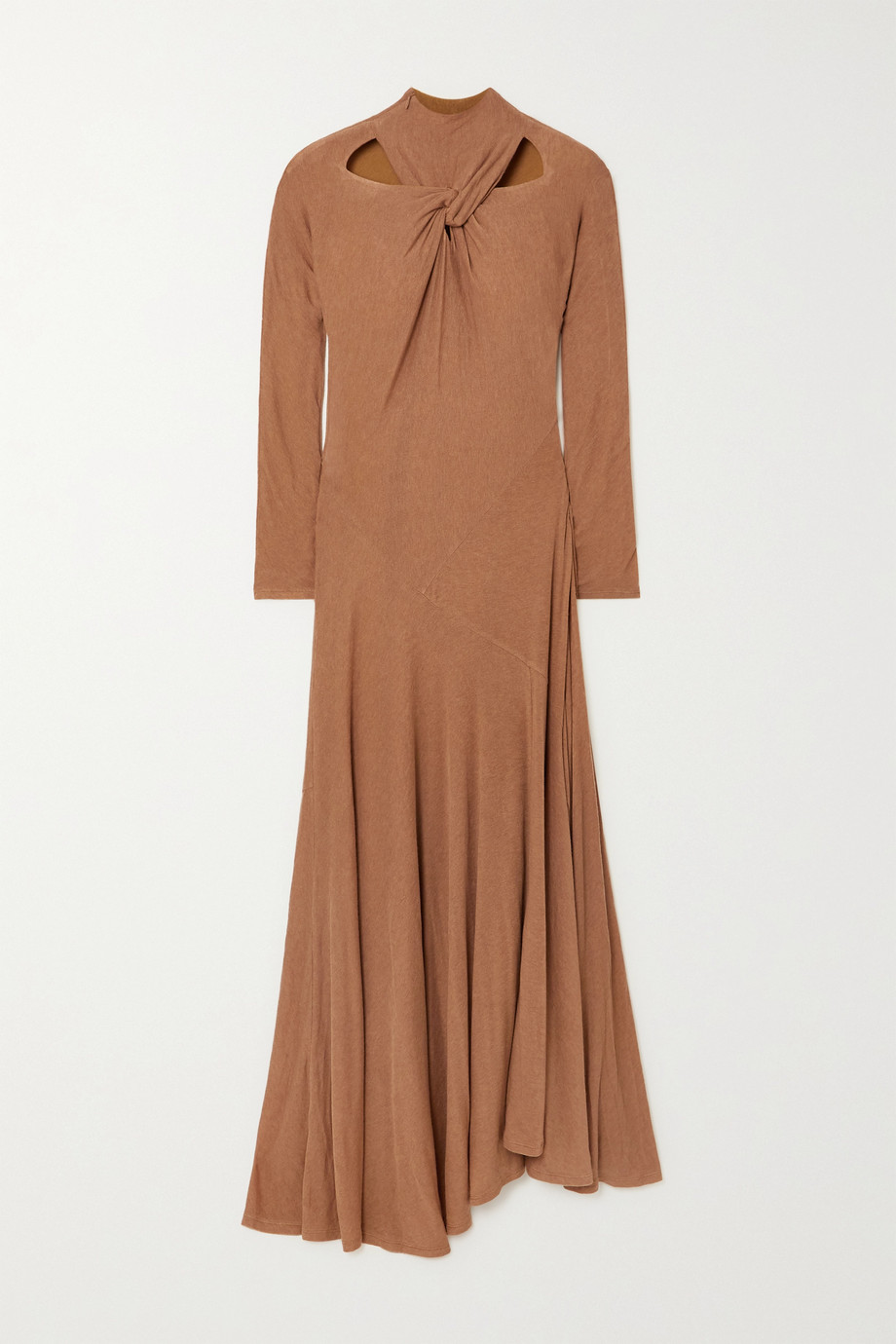 REJINA PYO + NET SUSTAIN Maia cutout twist-front TENCEL-blend jersey maxi dress