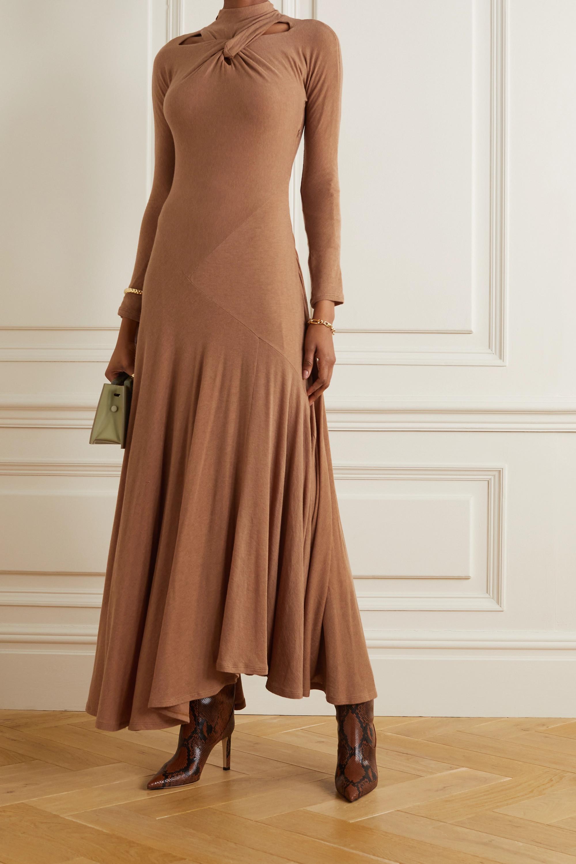 REJINA PYO + NET SUSTAIN Maia cutout twist-front TENCEL-blend jersey maxi dress