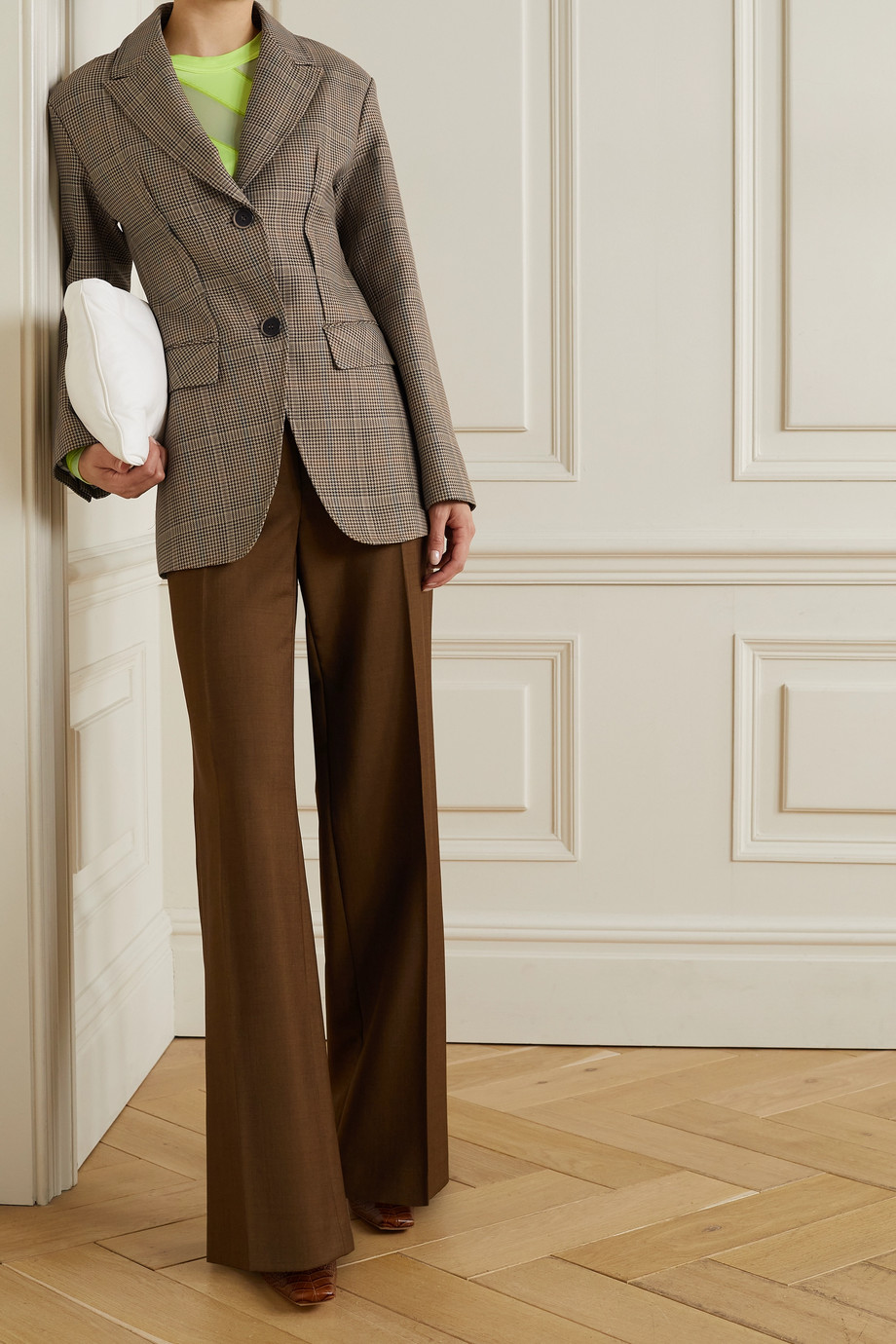 Andersson Bell Tate houndstooth wool-blend blazer