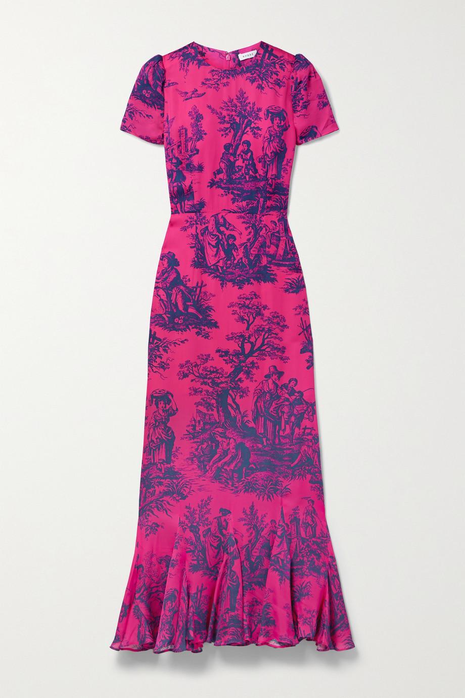 Rhode Lulani printed crepe dress