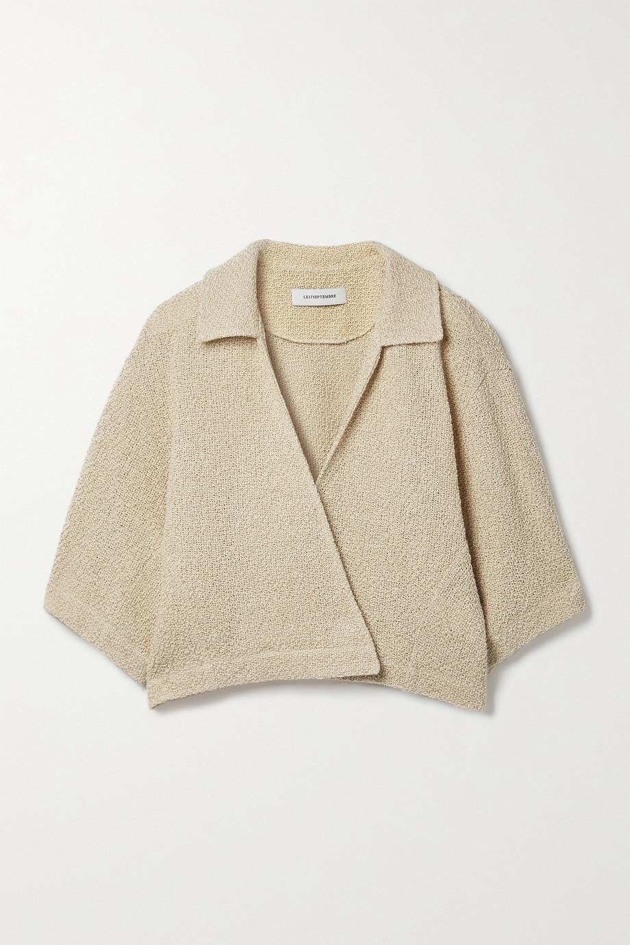 LE 17 SEPTEMBRE Linen and cotton-blend top