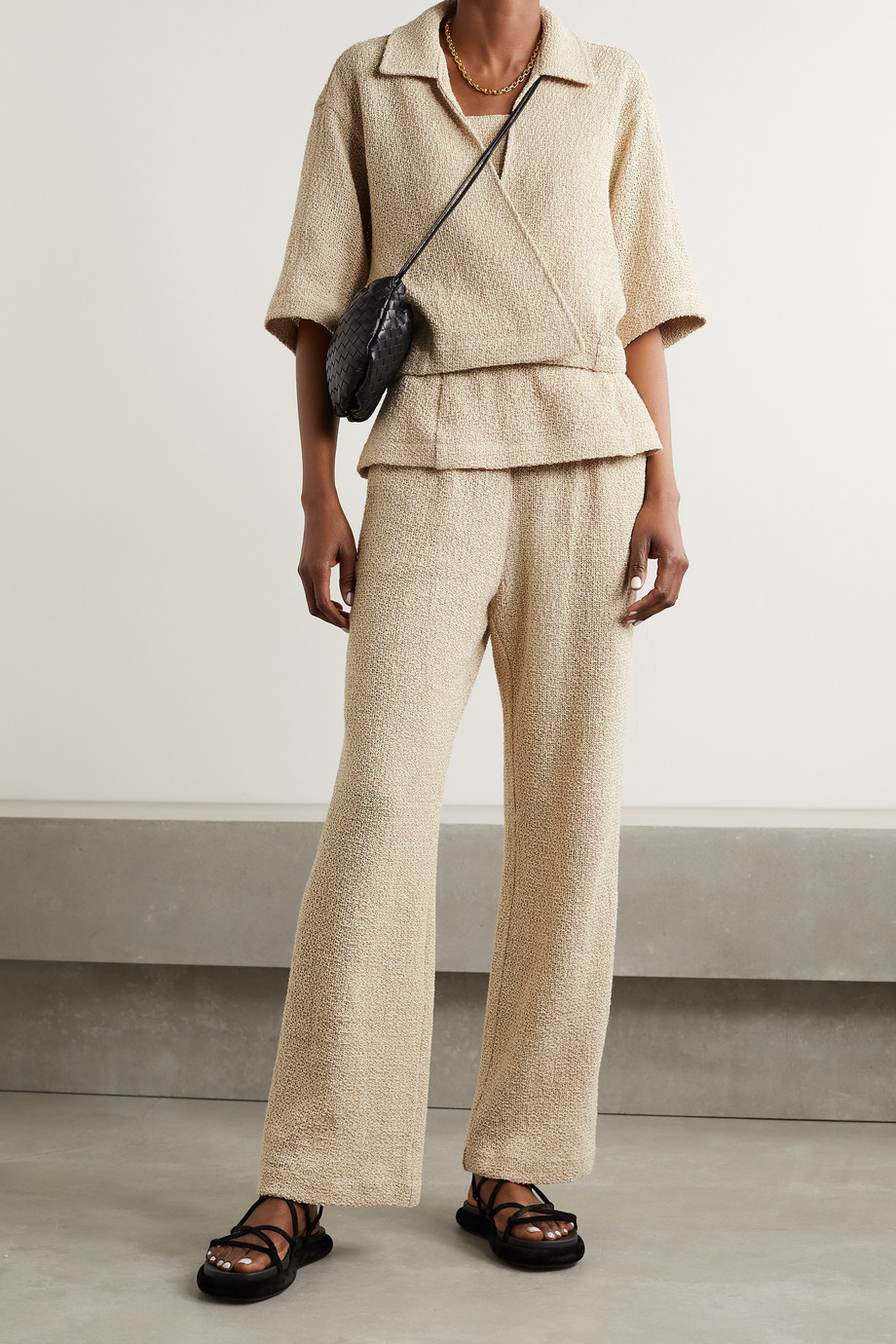 LE 17 SEPTEMBRE Hose mit geradem Bein aus einer Leinen-Baumwollmischung